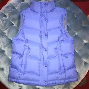 NEW! Blue L.L. Bean Puff Vest Sz Small zip pockets